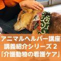 講義紹介シリーズ2「介護動物の看護ケア」